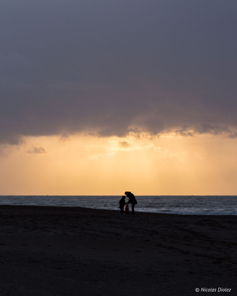 coucher de soleil Mer Ostende Belgique