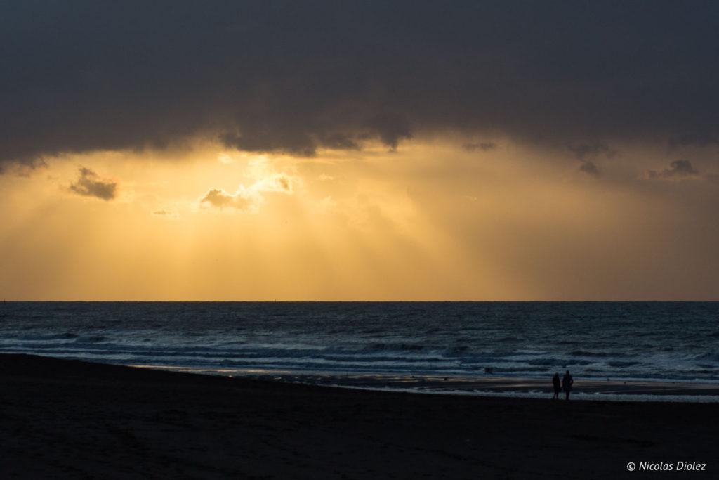 coucher de soleil Mer Ostende Belgique - DR Nicolas Diolez 201