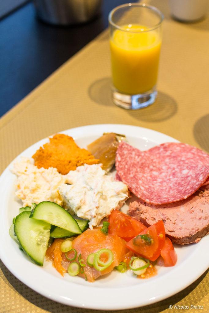 Petit déjeuner hôtel Bero Ostende Belgique