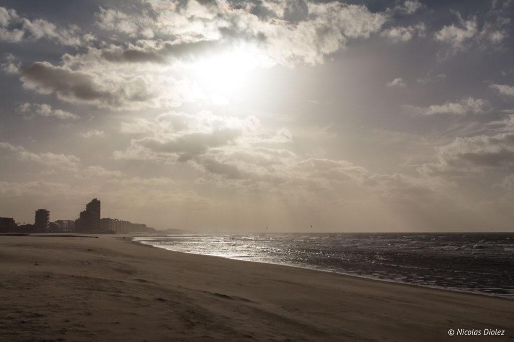 Bord de Mer et plage Ostende Belgique