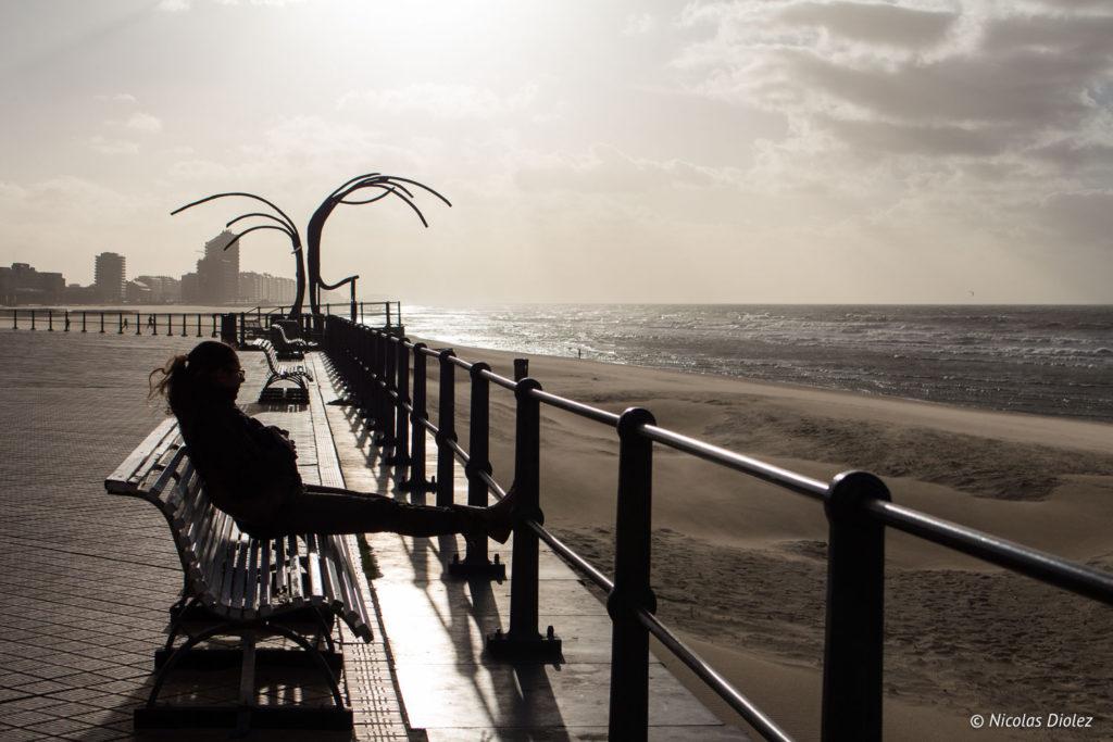 plage Mer Ostende Belgique - DR Nicolas Diolez 2017