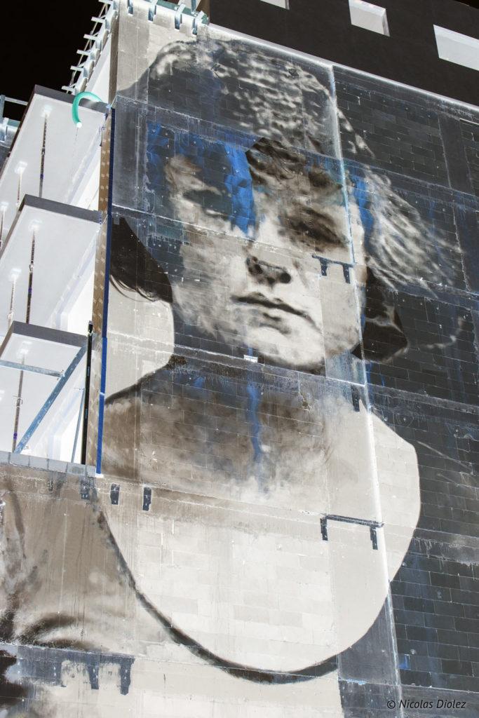 mur Street art positif Ostende Belgique