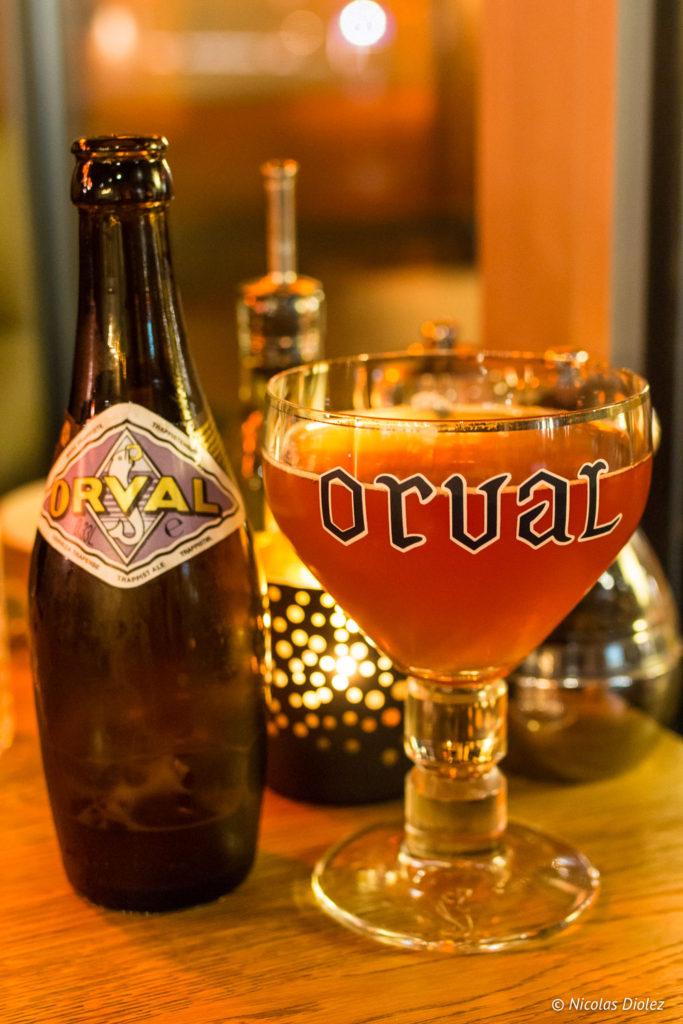 Bière Orval Bistro Bottarga Ostende Belgique