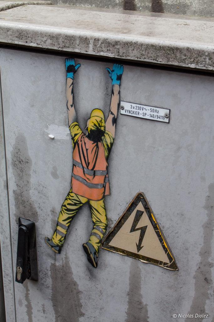 Street art Ostende Belgique