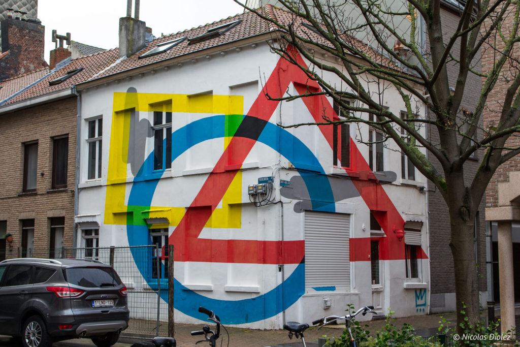 mur Street art Ostende Belgique