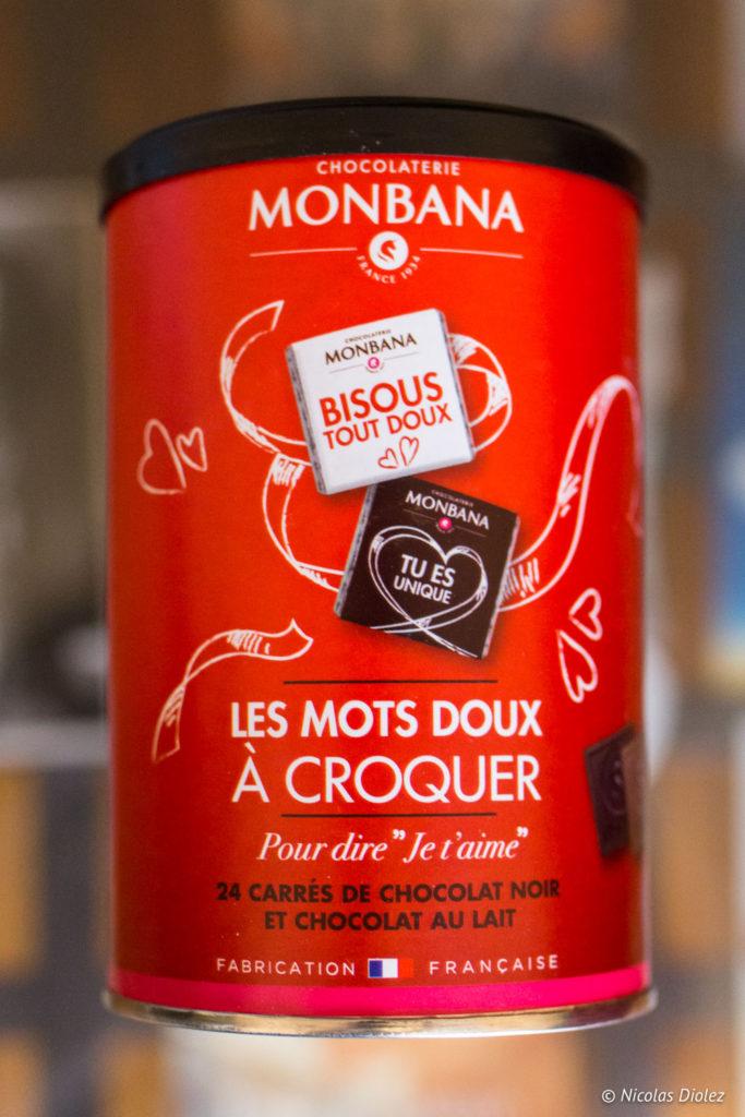 Chocolats Monbana Saint Valentin - DR Nicolas Diolez 2018