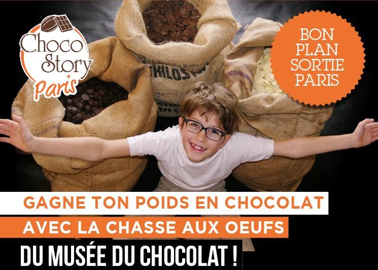 Chasse aux oeufs musée du chocolat paris