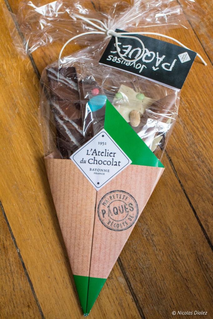 bouquet chocolat Atelier du chocolat Pâques