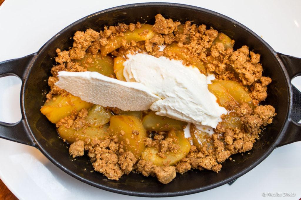 dessert pommes Café des musées