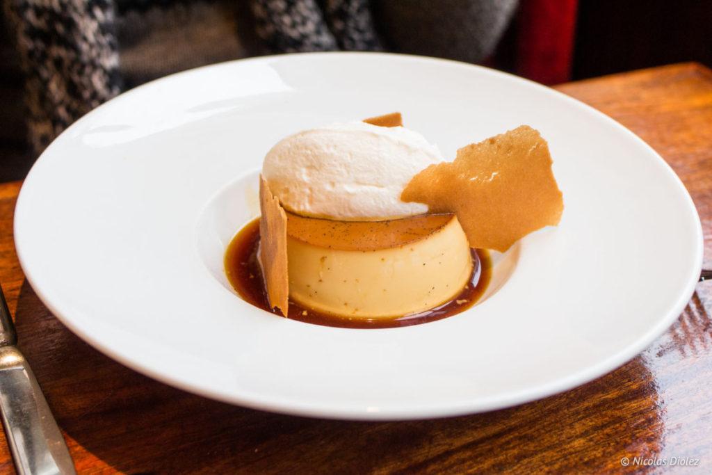 crème caramel Café des musées