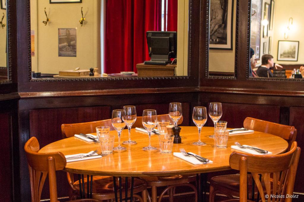 table Café des musées