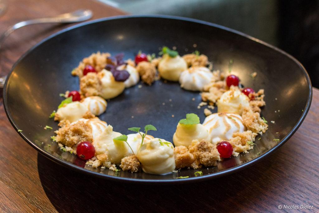 tarte yuzu restaurant Les Chouettes Paris