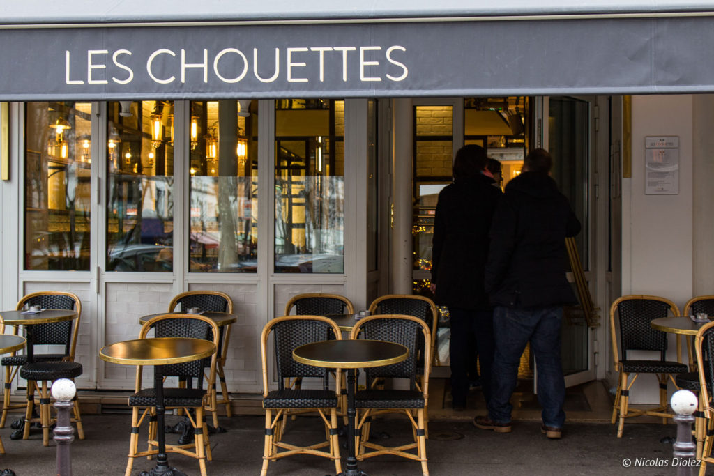 facade restaurant Les Chouettes Paris