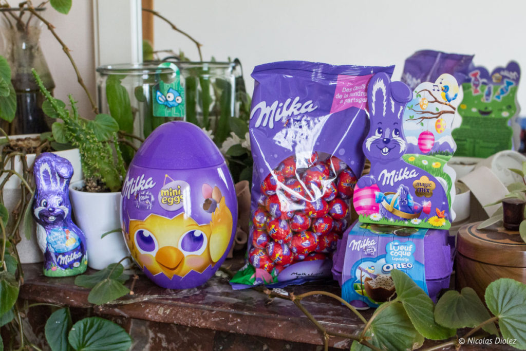 Collection chocolat Pâques Milka 2018