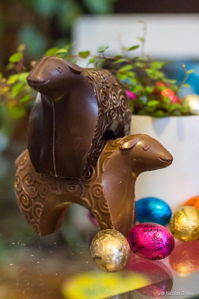Moutons chocolat Pâques Michel Cluizel 2018