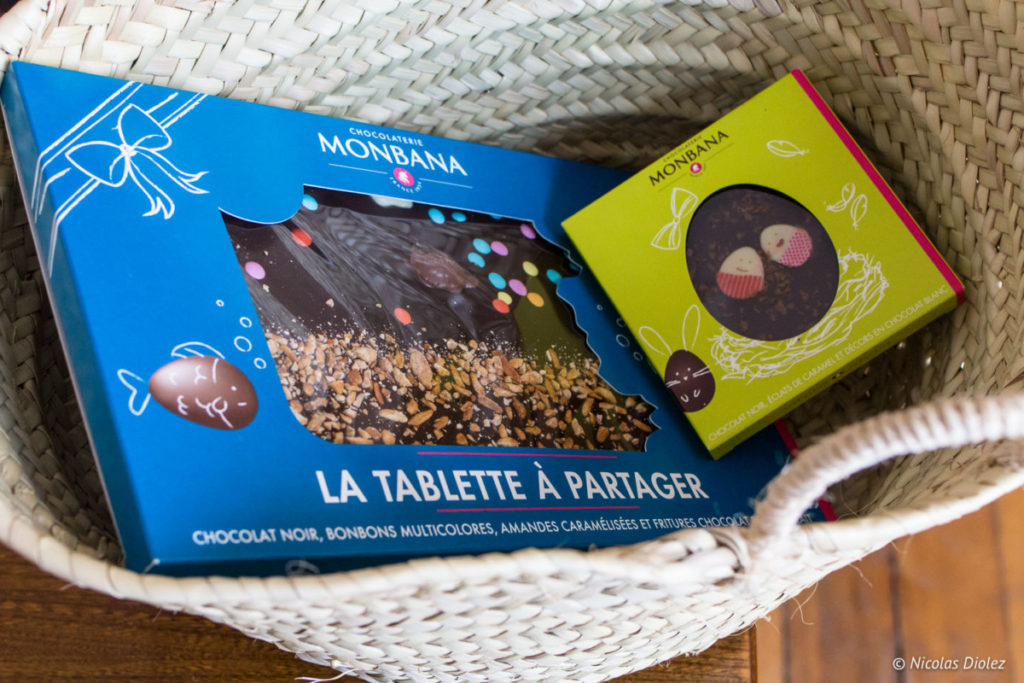 tablettes chocolat Pâques Monbana 2018