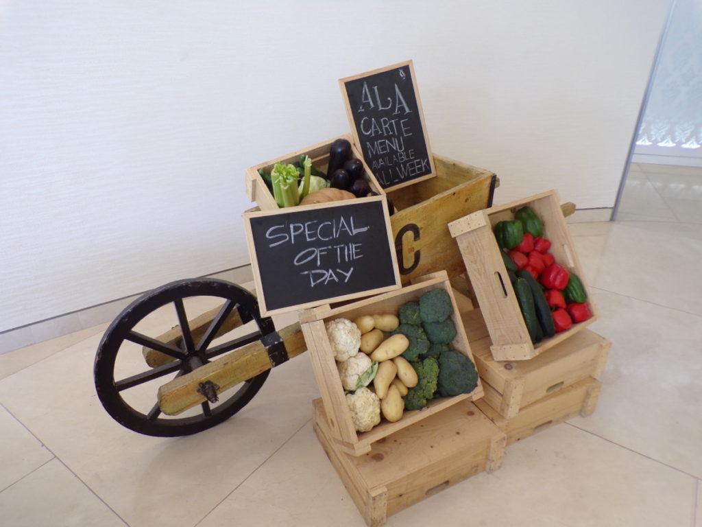 légumes bio restaurant Chef's Garden Qatar