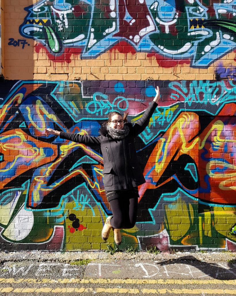 saut Melle Bon Plan ruelle street art North Lanes Brighton