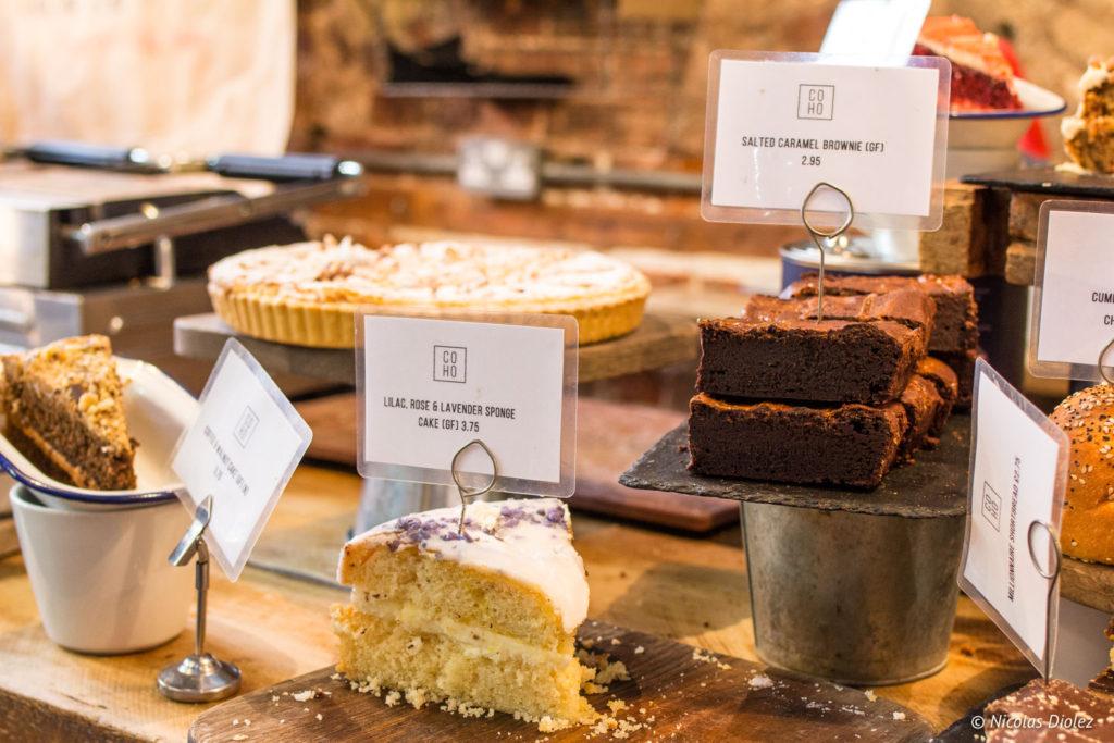 gâteaux Café Coho Brighton