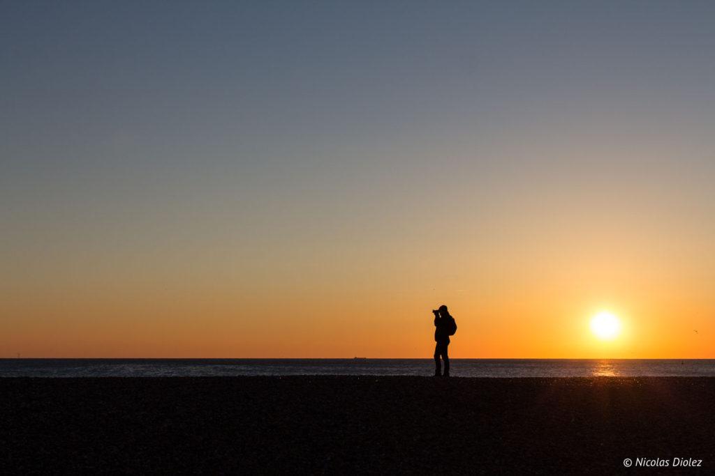 photographe coucher de soleil plage Brighton