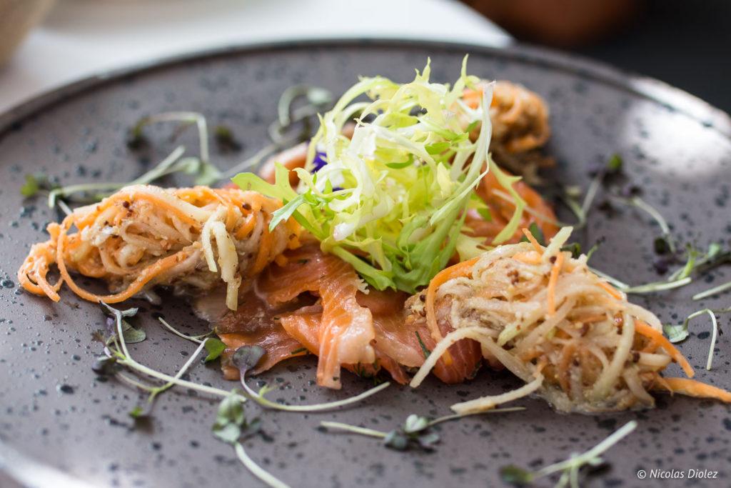entrée saumon Restaurant At Drakes Brighton