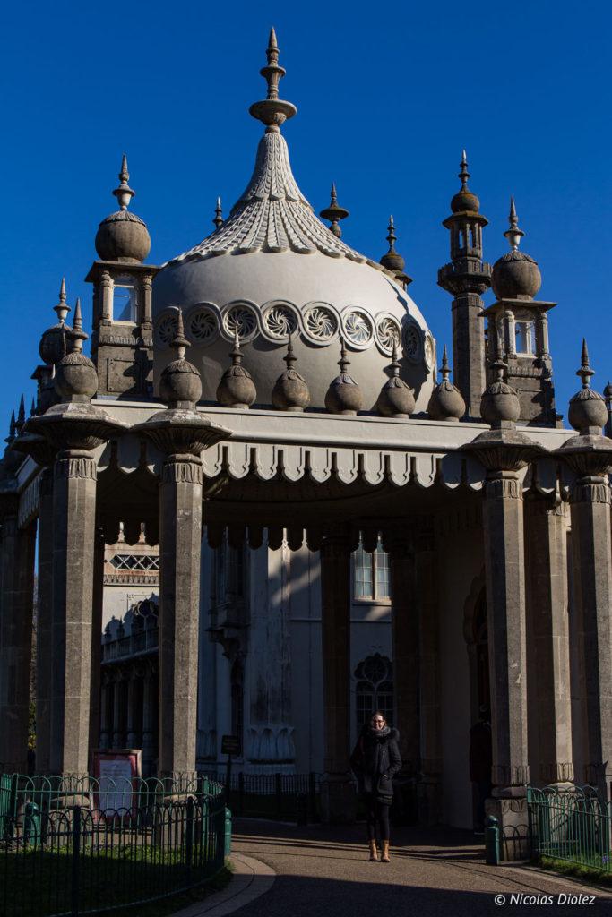 entrée du Royal Pavilion Brighton