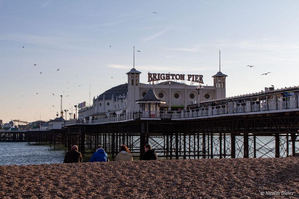 vue de la Brighton Palace Pier