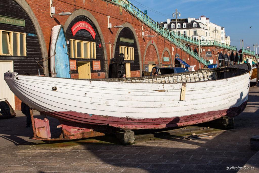 plage bateau Brighton