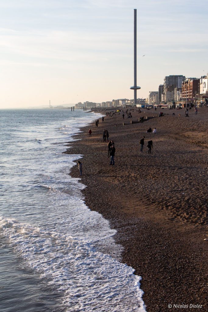 plage et British Airways i360 Brighton
