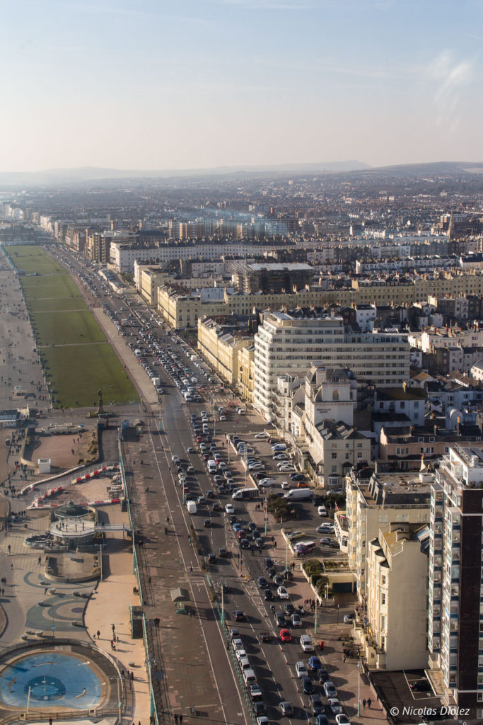 vue du British Airways i360 Brighton