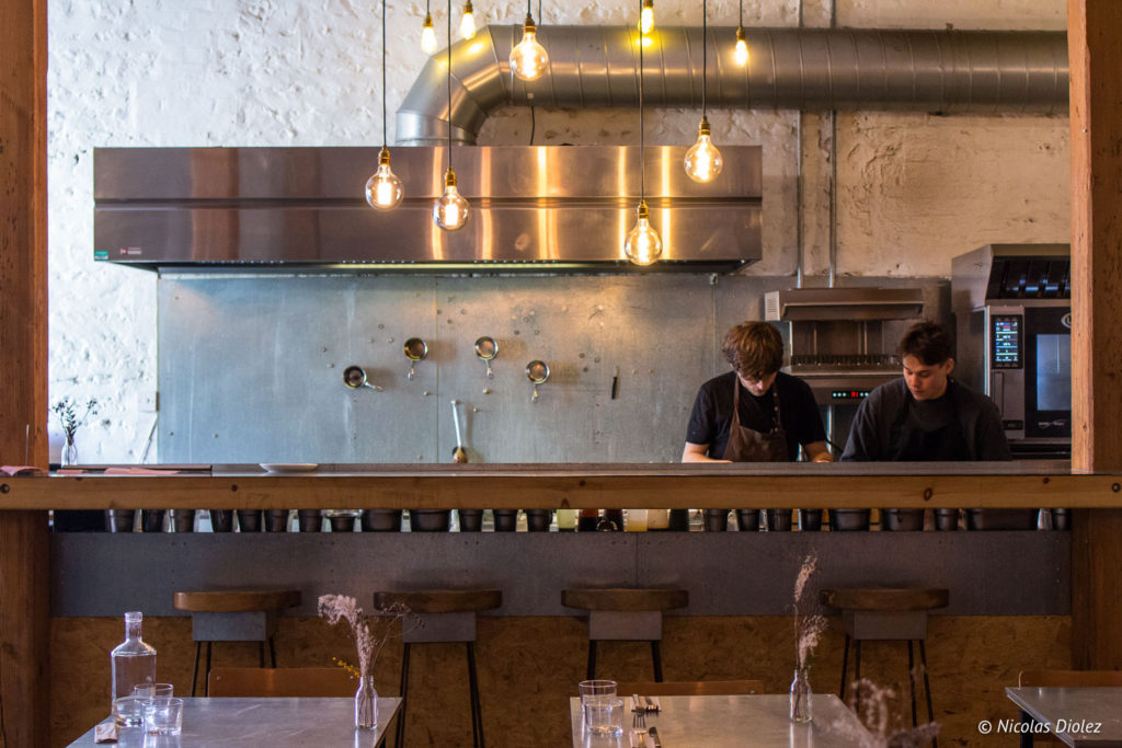 cuisine ouverte restaurant Silo Brighton