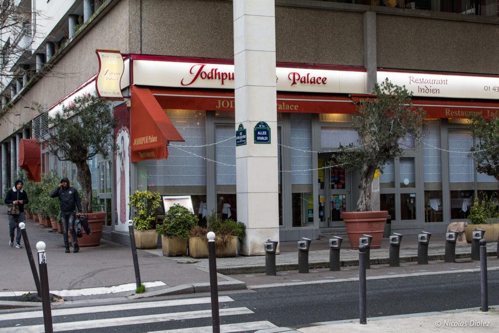 facade restaurant Jodhpur Palace Paris