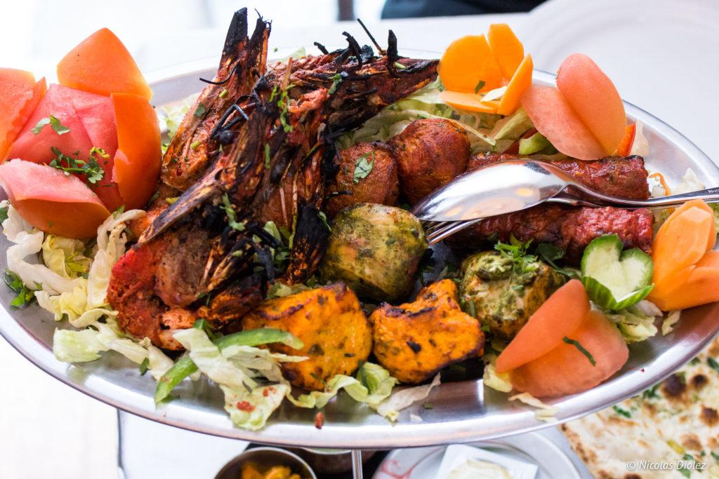 mixte grill Tandoori restaurant Jodhpur Palace Paris