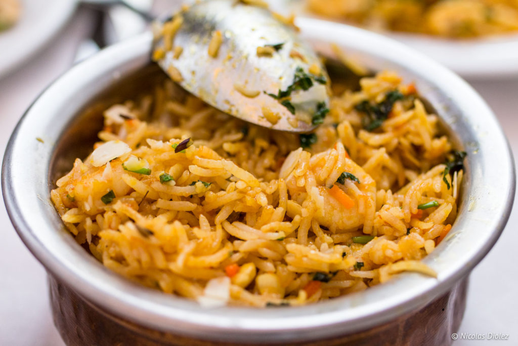 crevettes Biryani restaurant Jodhpur Palace Paris