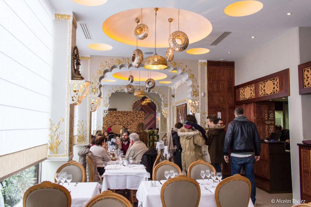 salle restaurant Jodhpur Palace Paris - DR Nicolas Diolez 2018