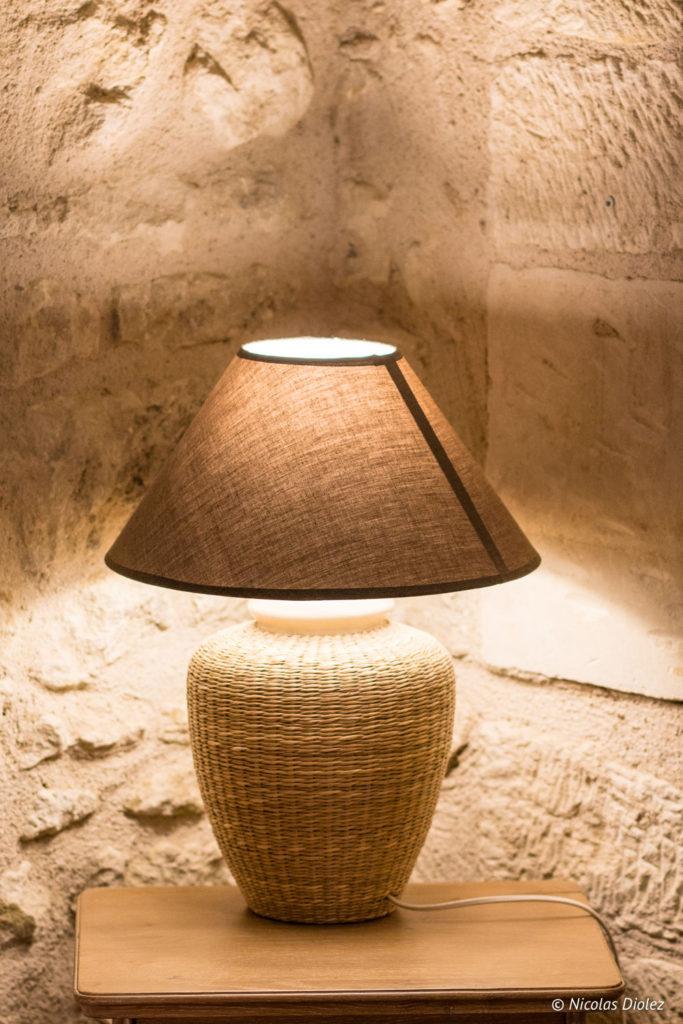lampe Gîte Ruelle des Jardins Val de Loire