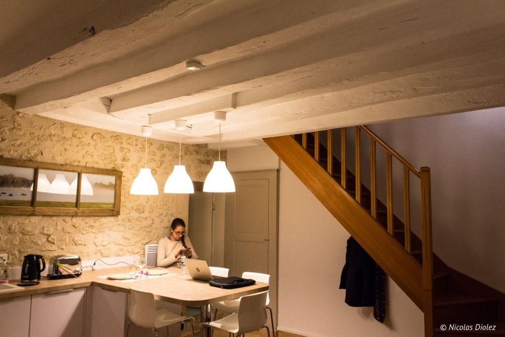 salon Gîte Ruelle des Jardins Val de Loire