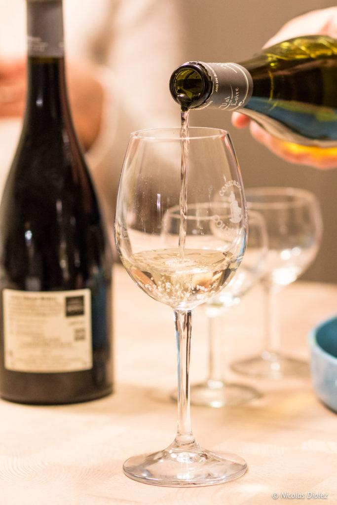 vin verre Gîte Ruelle des Jardins Val de Loire