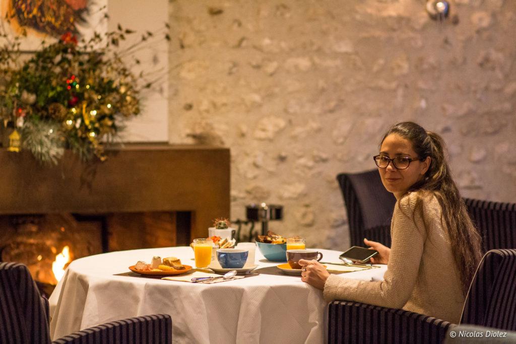 petit déjeuner melle bon plan Auberge de la Caillère Val de Loire