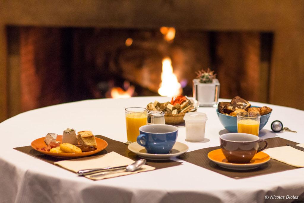 petit déjeuner Auberge de la Caillère Val de Loire