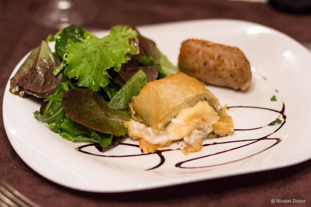 plat Restaurant La Charbonnette Onzain