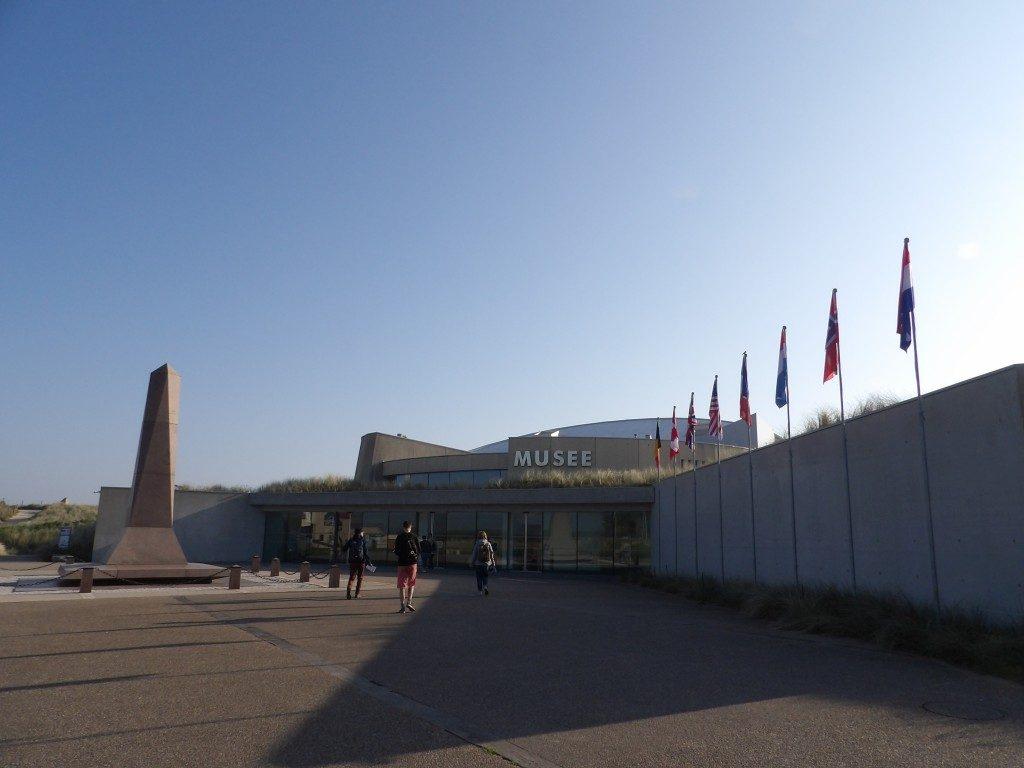 facade Musée du Débarquement d'Utah Beach La Manche Normandie