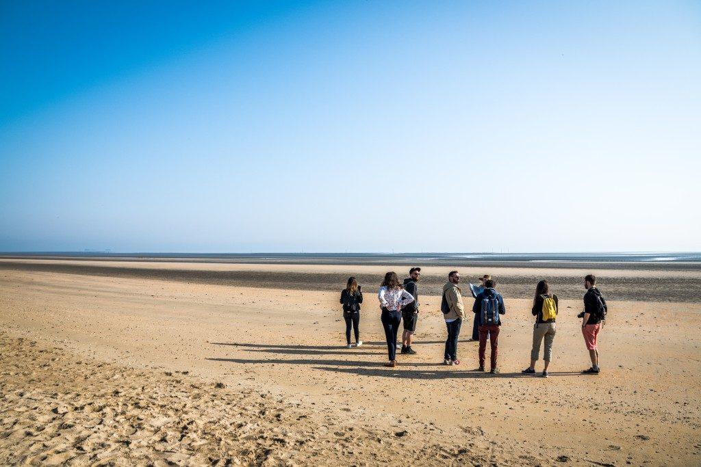groupe blogueurs Plage d'Utah Beach La Manche Normandie