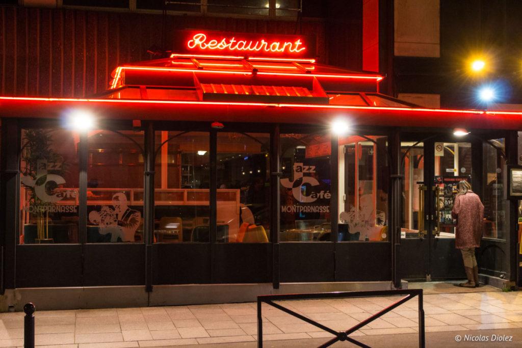facade restaurant Jazz Café Montparnasse Paris