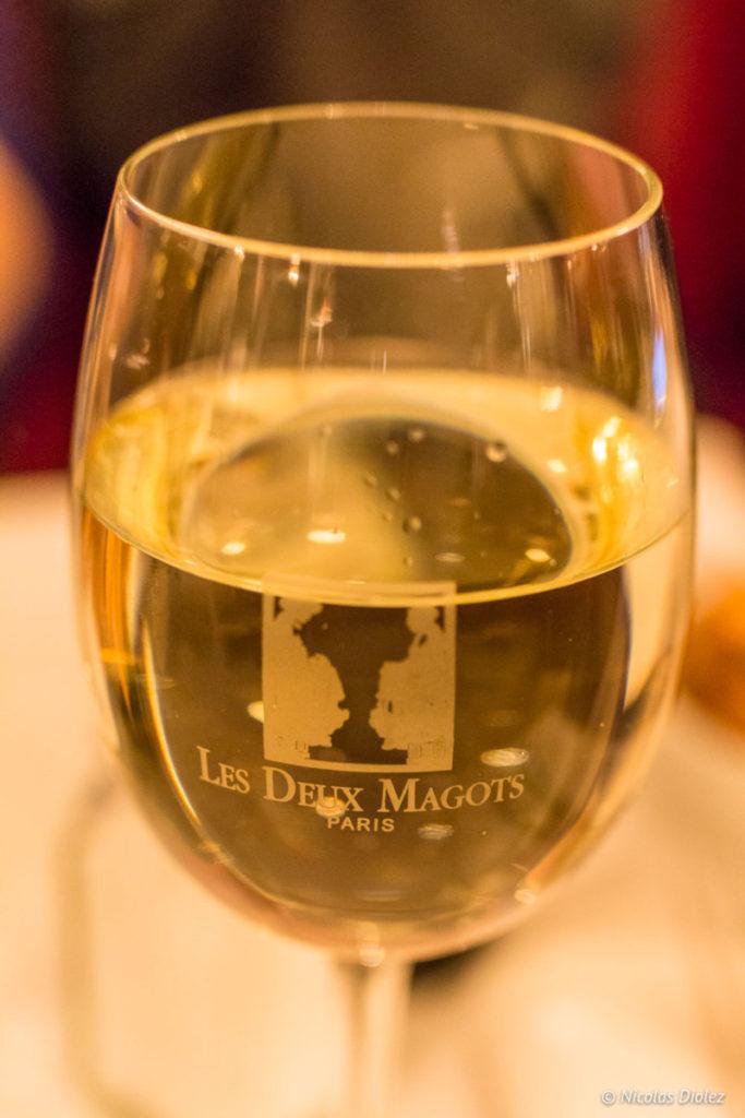 verre de vin Les Deux Magots Paris