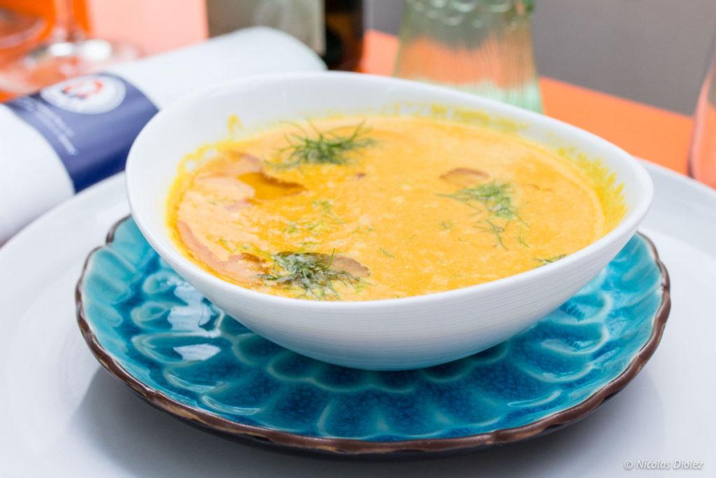 soupe de courge La Reine Mer Paris