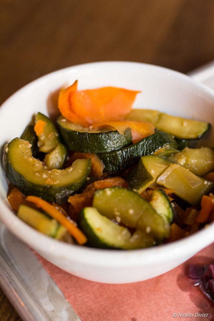 légumes confits Restaurant Rhino Rouge Paris