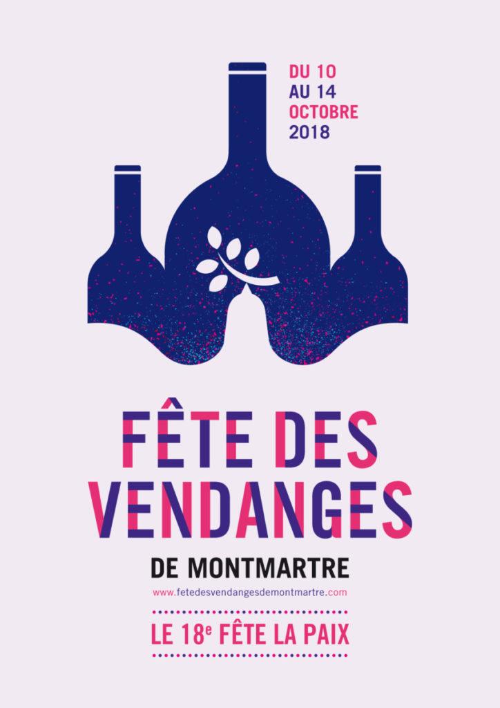 affiche fete des vendanges Montmartre 2018