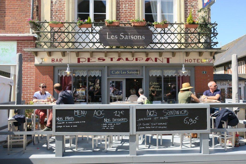 facade Restaurant Les Saisons Cambremer
