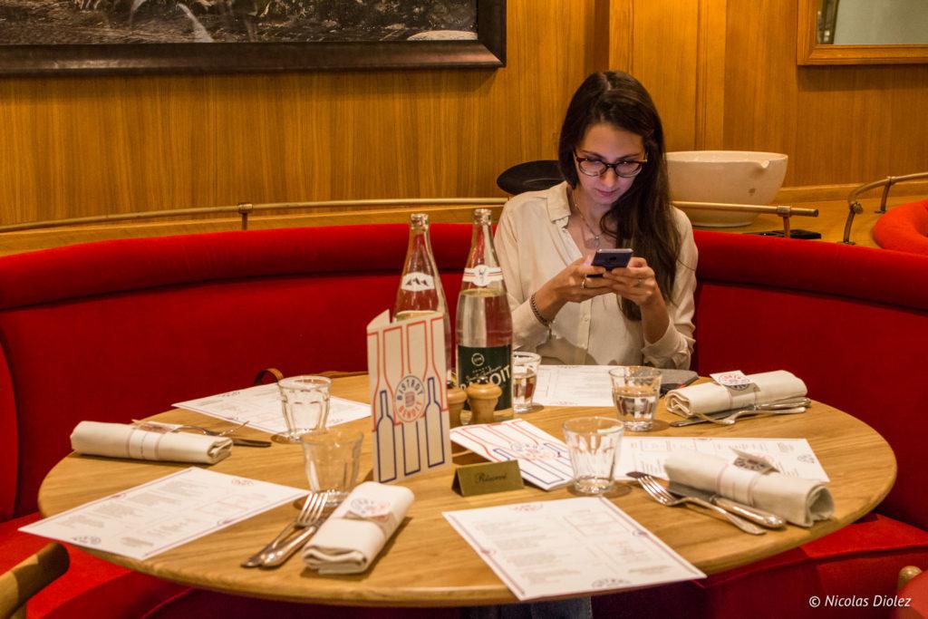 table melle bon plan Bistrot Benoit Louvre